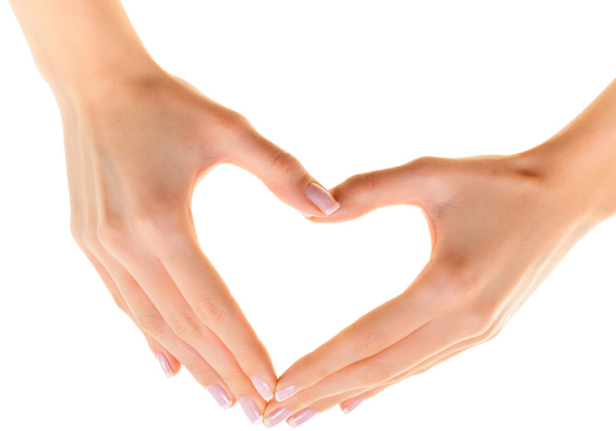 making heart by hands - photo #1