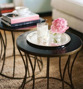 Example of Cylinder Coffee table styling
