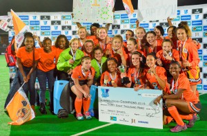 2015 Varsity Hockey champions UJ during the Varsity Hockey Final match Kovsies vs UJ held at UFS Astro in Bloemfontein on May 18, 2015 ©Frikkie Kapp /SASPA