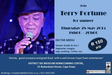 Flyer - District Six Museum Supper Club (28 May)