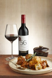 Nederburg 56Hundred Cab Sauv and lamb knuckles with dumplings and prunes LR