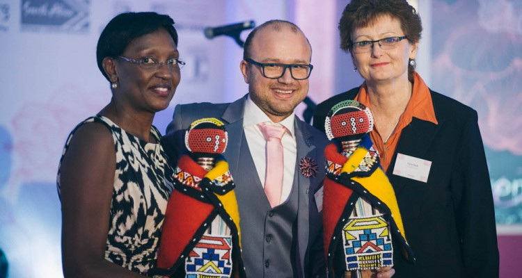 Martin Hiller , Mati Nyazema (Executive Director of Sandton Convention Centre) and Fiona Hack (Unlimited Events)