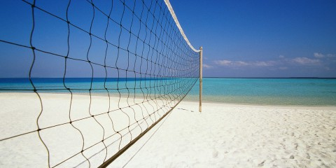 Volleyball Net at Beach 2000 Maldives