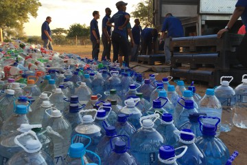 Water ready to be dispersed to the community