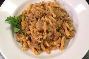 cumin lamb and eggplant pasta