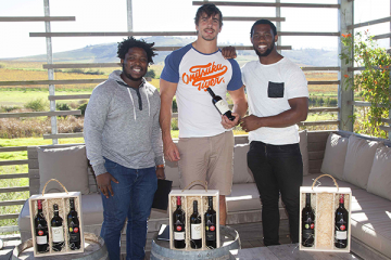 SPRINGBOKS TURN INTO WINEMAKERS FOR SPORT DEVELOPMENT