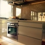Kitchen design - Handle Free Zone and Bespoke Splashback