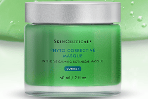 NEW! The Skin Ceuticals Phyto Corrective Masque cools on contact, comforts skin sensitivity and restores natural radiance and smoothness.
