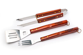 castle-larger-three-piece-braai-set-with-wood-and-stainless-steel-finishes
