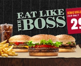 EAT LIKE A BOSS THIS JANUARY AND FEBRUARY WITH TIPS FROM BURGER KING