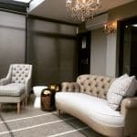 Lounge layout with rug and scatters