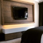 Cutom media unit in bedroom