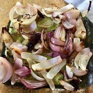 Oven baked onions