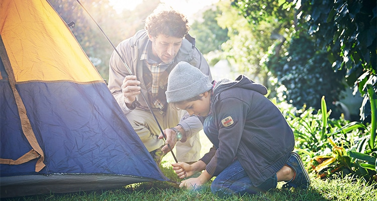 BOOK A CRAZY CAMPING WEEKEND TO CELEBRATE FATHER'S DAY THIS YEAR!