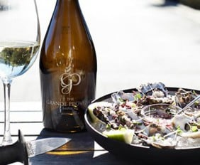 FRESH OYSTERS & CHARCUTERIE AT THE TASTING ROOM AT GRANDE PROVENCE