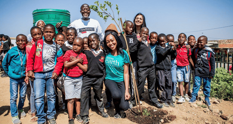 Tsogo Sun and Miss Earth green the future in Diepsloot