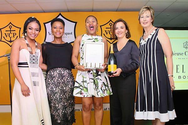 AMANDA DAMBUZA ANNOUNCED VEUVE CLICQUOT ELLE BOSS WINNER 2017 AT PRESTIGIOUS CHAMPAGNE CEREMONY