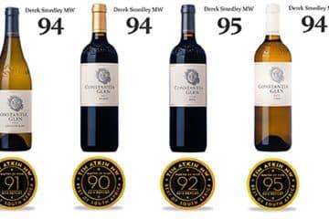 CONSTANTIA GLEN WINES APPLAUDED IN ATKIN SA WINE REPORT
