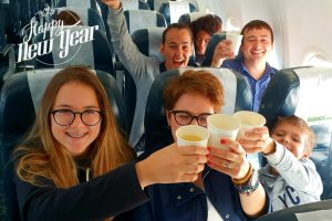 KULULA.COM RINGS IN THE NEW YEAR WITH SOME BUBBLES ON FLIGHT MN101