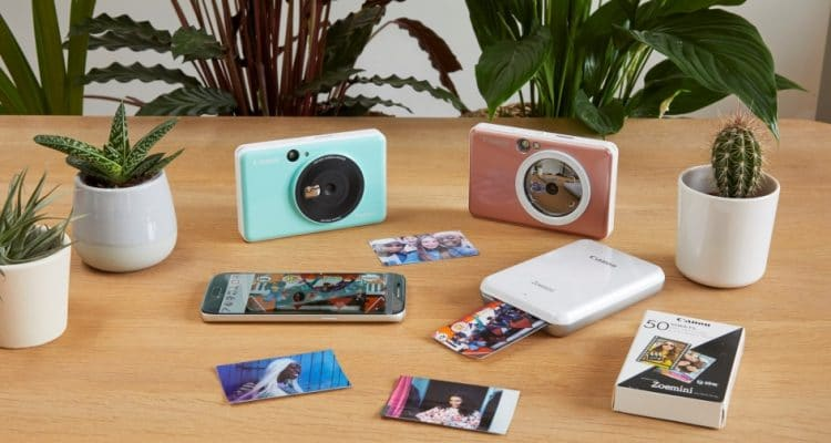 Shoot, print and share selfies on the go with the Canon Zoemini S and Canon Zoemini C instant camera printers