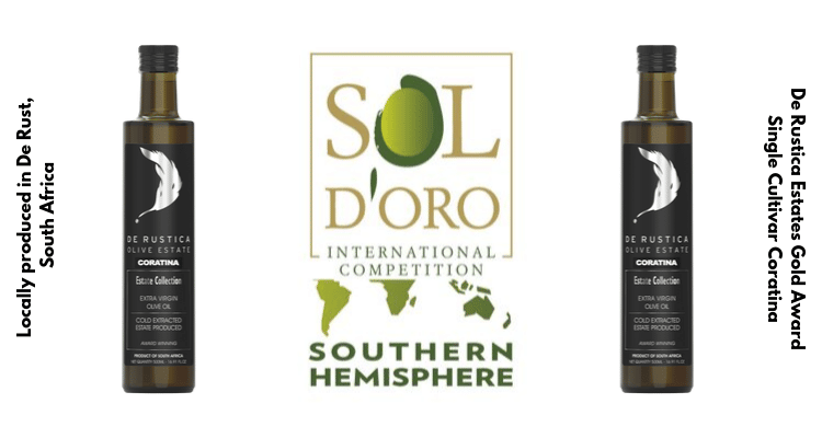 GOLD AWARD FOR DE RUSTICA AT SOL D' ORO INTERNATIONAL OLIVE OIL COMPETITION 2019
