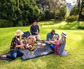 FAMILY GARDEN PICNICS AT THE CELLARS-HOHENORT, CONSTANTIA, CAPE TOWN