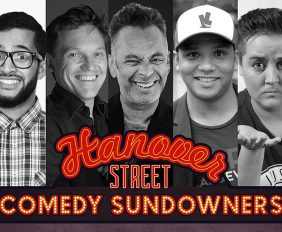 FANTASTIC COMEDIANS PERFORMING AT COMEDY SUNDOWNERS IN DECEMBER