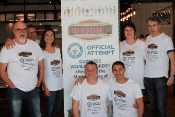 GIBSON'S GOURMET BURGERS & RIBS SET A GUINNESS WORLD RECORD