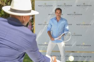 "MOËT & CHANDON CELEBRATES ROGER FEDERER IN ""THE MATCH IN AFRICA 6"""