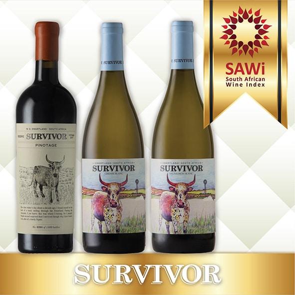 SURVIVOR STRIKES A GRAND WINES HAT TRICK AT SAWI WINE AWARDS