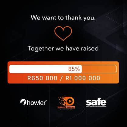 SAFE RAISES R650,000 TO HELP JOBLESS IN ENTERTAINMENT INDUSTRY