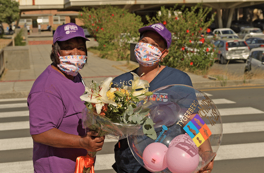 CHAMPIONS FOR CHILDREN VOLUNTEERS SHOWING LOVE TO THE FRONTLINE WORKERS AT TYGERBERG HOSPITAL DURING THE MONTH OF FEBRUARY