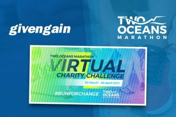 GIVENGAIN PROUDLY SUPPORTS TWO OCEANS MARATHON'S NEW TOM 2021 VIRTUAL CHARITY CHALLENGE