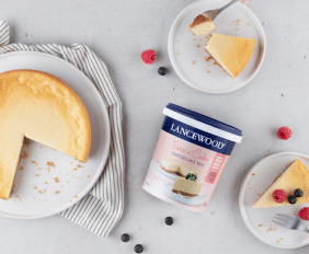 BAKING IS A PIECE O' CAKE WITH LANCEWOOD®'S NEW CHEESECAKE MIX