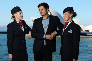 Orlando Bloom And British Airways Celebrate Aircraft Launch