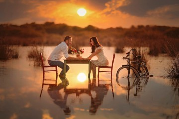man-woman-lovers-river-sunset