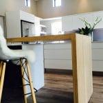 Open plan kitchen design - fun take on kitchen counter
