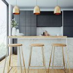 Brass; copper and marble interior finishes