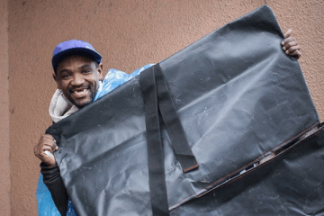 NOVEL SLEEPING BAGS MADE FROM RECYCLED PVC WINS GOLD FOR STREET SLEEPER