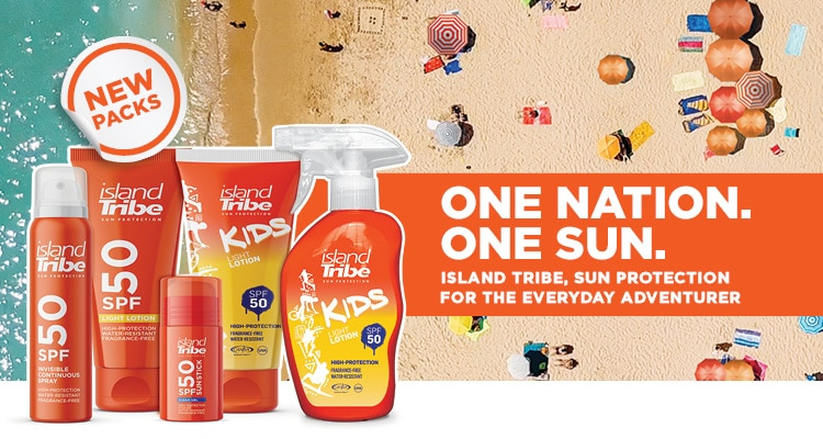 STAND A CHANCE OF WINNING AN ISLAND TRIBE SUNSCREEN HAMPER VALUED AT R1000!