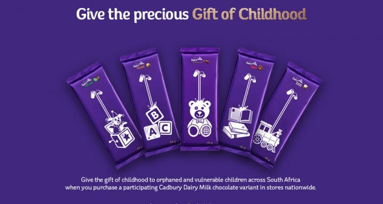 JOIN CADBURY DAIRY MILK IN GIVING THE PRECIOUS GIFT OF CHILDHOOD TO ORPHANED AND VULNERABLE CHILDREN ACROSS SA