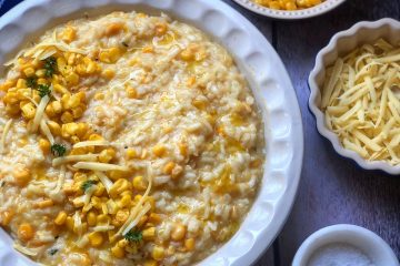 ZOLA NENE'S SIMPLY DELICIOUS 15-MINUTE SWEETCORN AND CHEDDAR RISOTTO