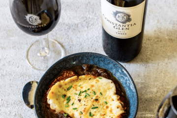 EASE INTO WINTER WITH CONSTANTIA GLEN RED WINE & FRENCH ONION SOUP
