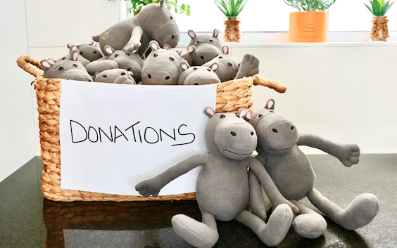 HIPPO TOY BRINGS WINTER SMILES TO VULNERABLE KIDS