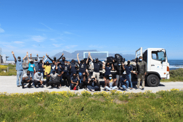 VOLUNTEERS JOINED ROBBEN ISLAND MUSEUM IN RIDDING IT'S SHORELINE OF OCEAN WASTE AND POLLUTION IN COMMEMORATION OF INTERNATIONAL COASTAL CLEAN-UP DAY